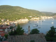 View over the town Vis