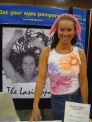 At the booth at the Olympia Expo